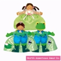 Topsy Turvy Doll Princess/Frog Prince Brunette by North American Bear Co. (3836) - FREE SHIPPING!