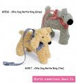 Tan Ollie Dog Pacifier Clip by North American Bear Co. (8251-T)
