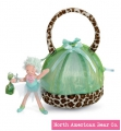 Ixie Bixie Pixie Purse with Doll Green Leopard by North American Bear Co. (2882)