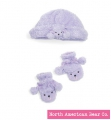 Fuzzy Wear Purple Poodle Hat & Mittens Set by North American Bear Co. (3777) 12 - 18 Months