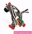 Tickle Toy Zebra Ring Toy by North American Bear Co. (6140)