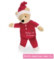 "Christmas Bear 10"" by North American Bear Co. (6166)"