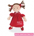 Little Princess Christmas Doll Brunette by North American Bear Co. (6164)