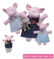 Nesting Puppets - 3 Pigs & Bad Wolf - by North American Bear Co. (8326) - FREE SHIPPING!