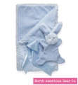 Smushy Bunny - Blue blanket with crinkle by North American Bear Co. (6247) - FREE SHIPPING!