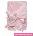 Smushy Bunny - Pink blanket with crinkle by North American Bear Co. (6243) - FREE SHIPPING!