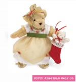 Muffy Couture Christmas Rose by North American Bear Co. (5850) - FREE SHIPPING!