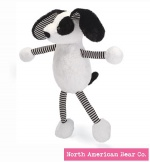 "Baby Long Legs Black and White Puppy 18"" by North American Bear Co. (6280) - FREE SHIPPING!"
