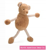 "Baby Long Legs Brown Bear 18"" by North American Bear Co. (6281) - FREE SHIPPING!"