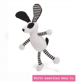 "Baby Long Legs Black and White Puppy 8"" by North American Bear Co. (6282)"