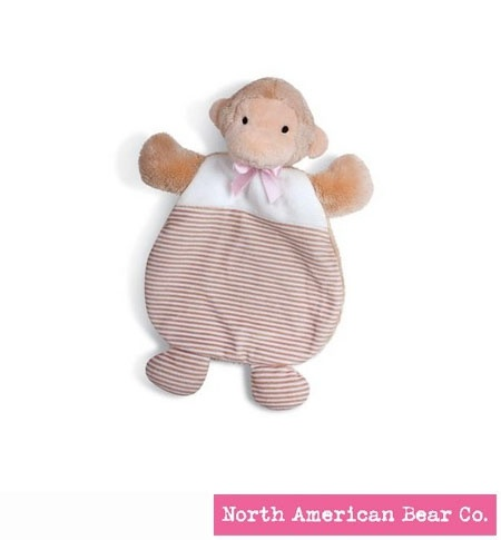 First Friends Monkey Cozy Pink by North American Bear Co. (6319)