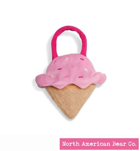 Goody Bag Ice Cream Strawberry by North American Bear Co. (6325)