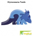 ImagiPLAY Colorific Earth Styracosaurus Puzzle (#10302)