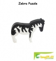 ImagiPLAY Colorific Earth Zebra Puzzle (#10205)
