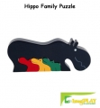 ImagiPLAY Colorific Earth Hippo Family Puzzle (#10206)