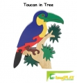 ImagiPLAY Colorific Earth Toucan in Tree Puzzle (#10423) - FREE SHIPPING!