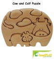 ImagiPLAY Natural Dream Cow & Calf Puzzle (#20102)