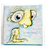 WorryWoo Monsters - Rue, The Monster of Insecurity Canvas 8 x 8 (RC02) - FREE SHIPPING!