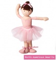 Girls on the Move Ballerina Brunette 14in by North American Bear Co. (6579) - FREE SHIPPING!