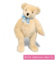 "Classic Teddy Bear with Blue Ribbon, Jointed, 12"" by North American Bear Co. (K394B)"