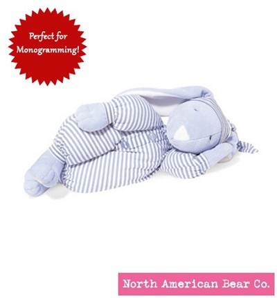 Sleepyhead Bunny Medium Blue by North American Bear Co. (1578)