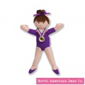 Girls on the Move Gymnast Brunette Finger Puppet by North American Bear Co. (6369)