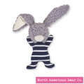 "First Mates Bunny Rattle 8"" by North American Bear Co. (6571)"