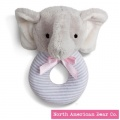 First Friends Elephant Ring Rattle by North American Bear Co. (6313)