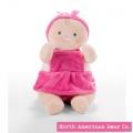 "Rosy Cheeks Baby Girl Ruffles 10"" by North American Bear Co (6671)"