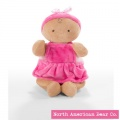 "Rosy Cheeks Baby Girl Ruffles Tan 10"" by North American Bear Co (6672)"