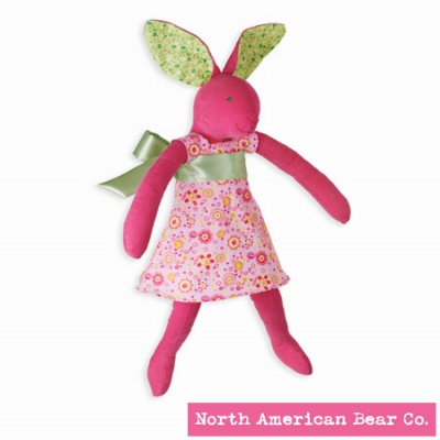 Calico Cottontail� Bunny in Dress by North American Bear Co. (3997)