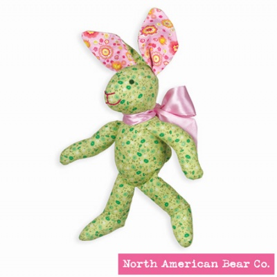 Calico Cottontail� Green Bunny by North American Bear Co. (3995)