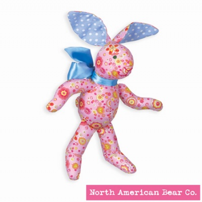 Calico Cottontail� Pink Bunny by North American Bear Co. (3994)