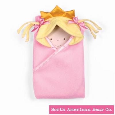 Little Princess� Hooded Blanket Blonde by North American Bear Co. (3883)