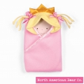 Little Princess Hooded Blanket Blonde by North American Bear Co. (3883)