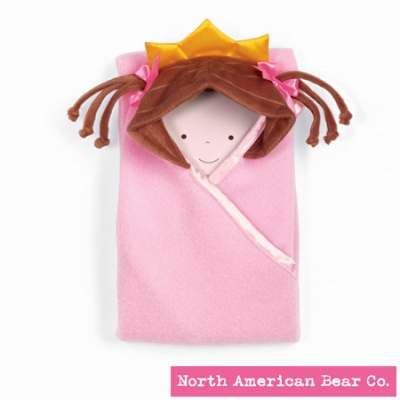 Little Princess� Hooded Blanket Brunette by North American Bear Co. (3884)