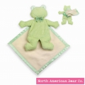 Pastel Pancake Frog with Blanket by North American Bear Co. (3837)
