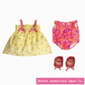 Rosy Cheeks Baby Beach Outfit Set by North American Bear Co. (3961) - FREE SHIPPING!
