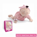 Rosy Cheeks Baby Brunette Girl in Gift Box by North American Bear Co. (6125) - FREE SHIPPING!