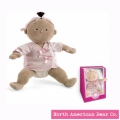 Rosy Cheeks Baby Brunette/Tan Girl in Gift Box by North American Bear Co. (6126) - FREE SHIPPING!