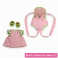 Rosy Cheeks Baby Jumper & Doll Carrier Set by North American Bear Co. (4215) - FREE SHIPPING!