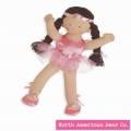 Rosy Cheeks Big Sister Ballerina Brunette by North American Bear Co. (3967) - FREE SHIPPING!