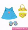 Rosy Cheeks Big Sister Beach Outfit Set by North American Bear Co. (3965) - FREE SHIPPING!