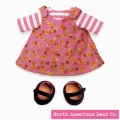 Rosy Cheeks Big Sister Pink T-shirt & Jumper Set by North American Bear Co. (3829)