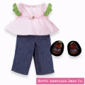 Rosy Cheeks Big Sister Shirt & Jeans Set by North American Bear Co. (3598)