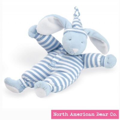 Sleepyhead� Bunny Rattle Blue by North American Bear Co. (1579)
