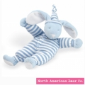Sleepyhead Bunny Rattle Blue by North American Bear Co. (1579)