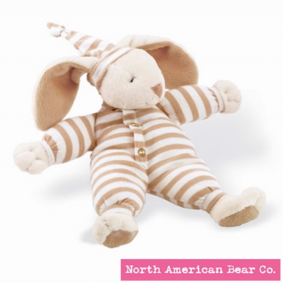 Sleepyhead� Bunny Rattle Natural by North American Bear Co. (3807)