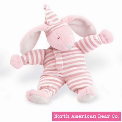 Sleepyhead� Bunny Rattle Pink by North American Bear Co. (1574)