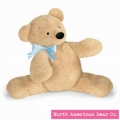 Smushy Bear Large Blue Bow by North American Bear Co. (2480) - FREE SHIPPING!